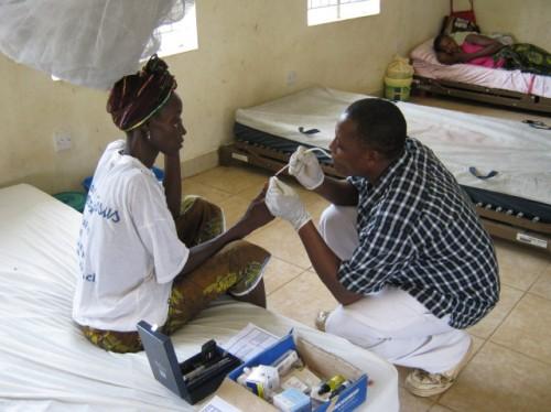 Sierra Leone, Serabu, Krankenhaus, Behandlung, Pfleger