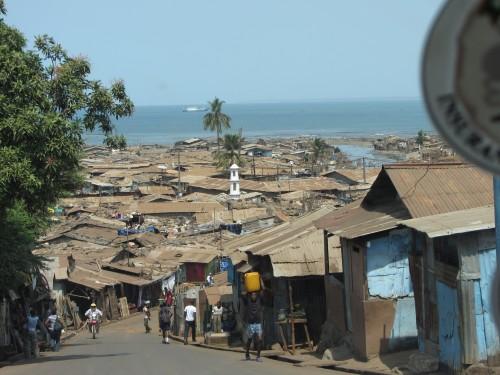Sierra Leone Freetown Hafengebiet Slum
