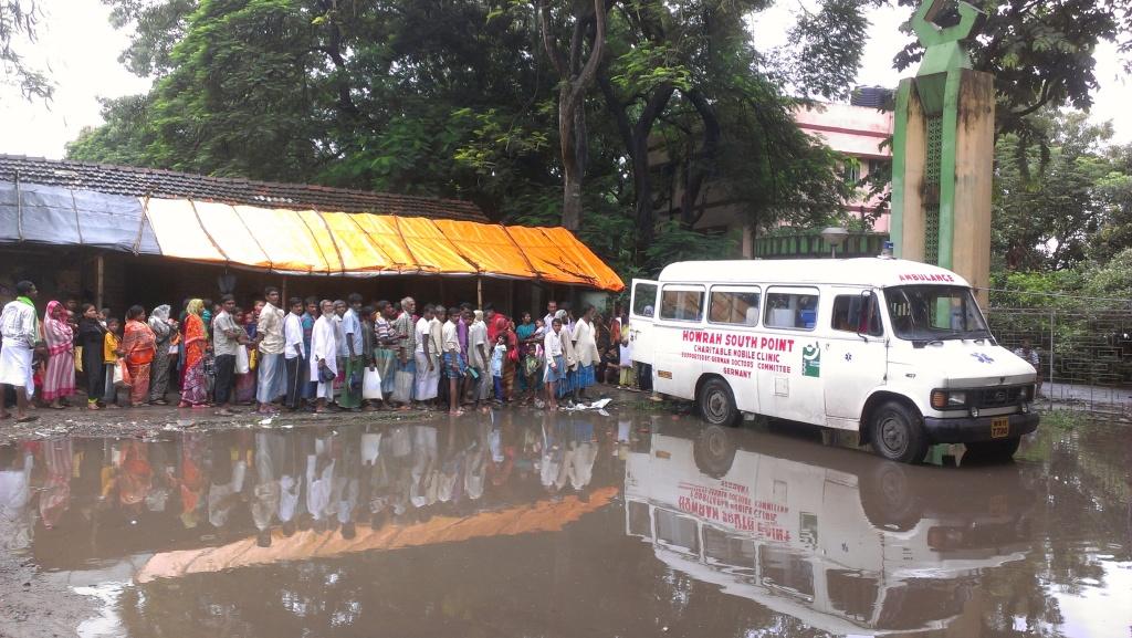 Ambulanz in Santoshpur