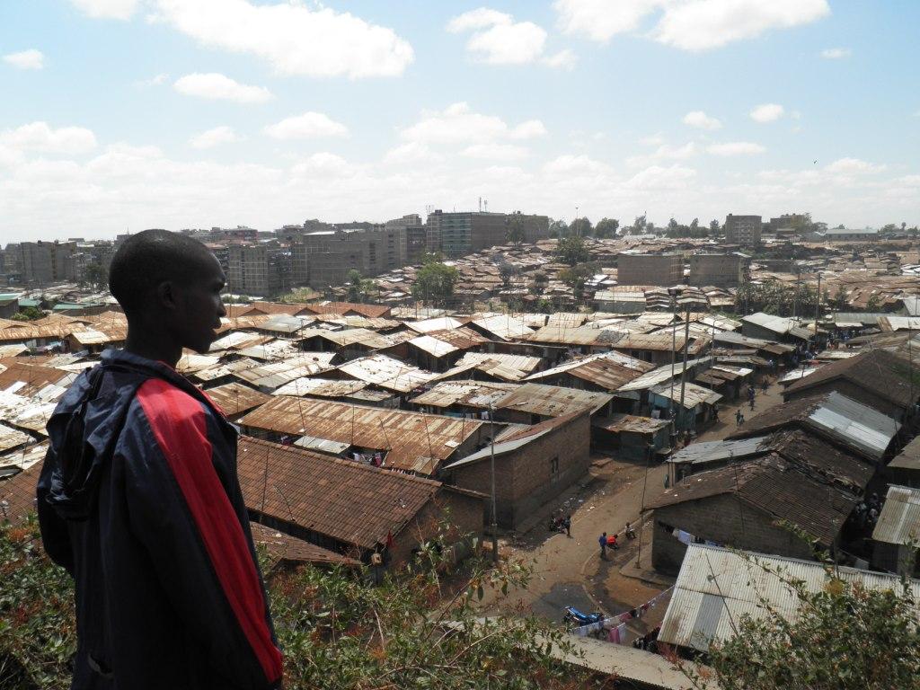 Blick auf Slum