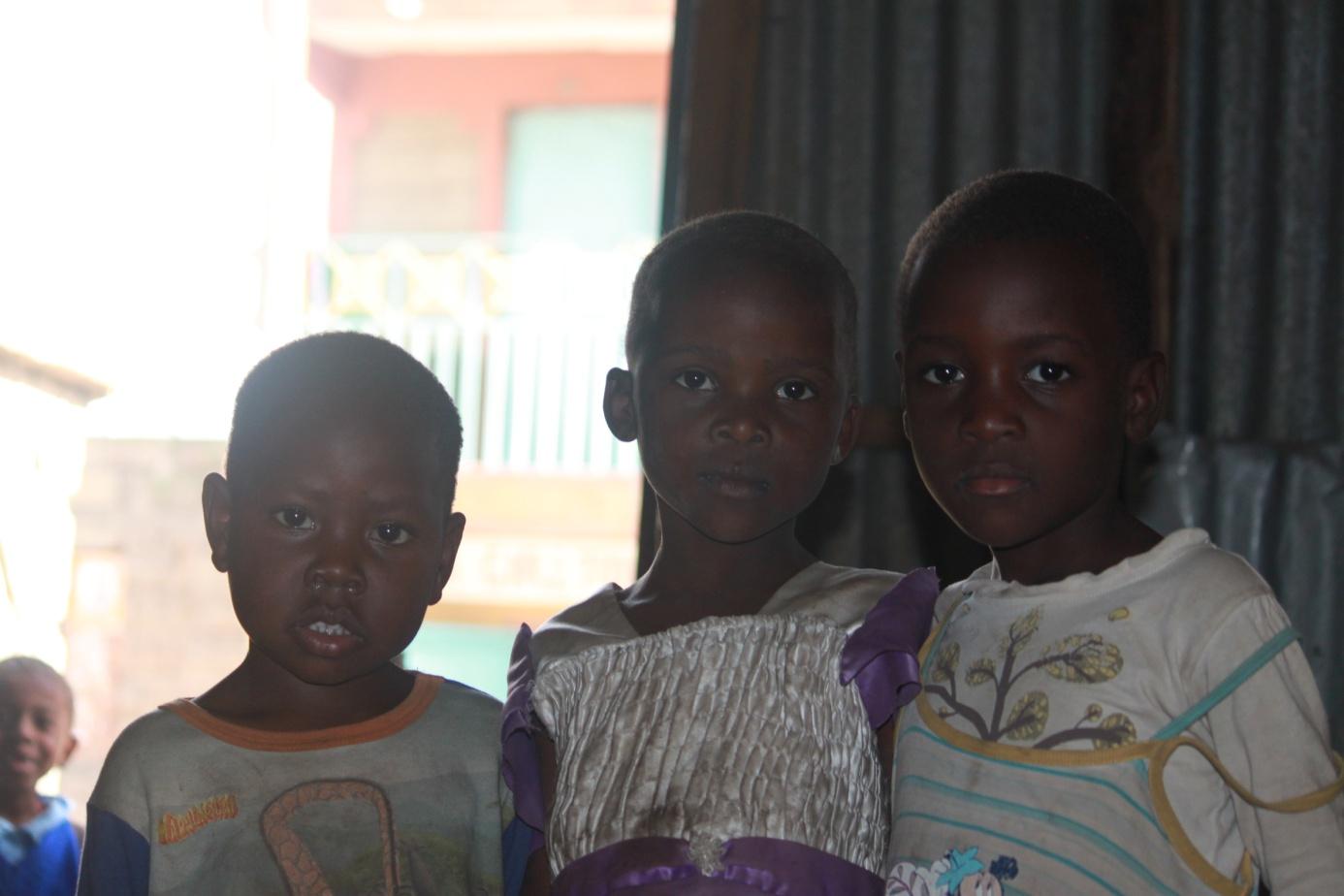 Kinder im Mathare Valley Slum