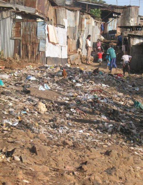Slum in Kenia